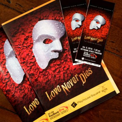 Love Never Dies Playbill and tickets