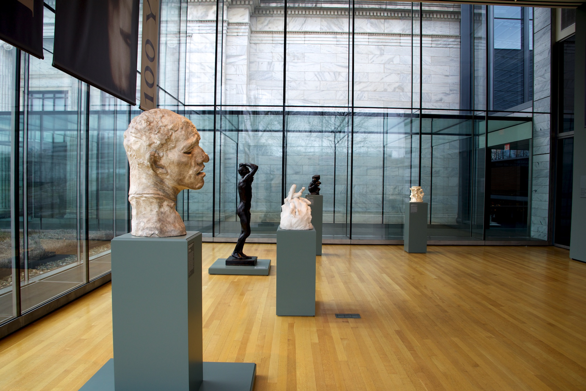 Gallery of #Rodin100 exhibit in Cleveland, Ohio at Cleveland Museum of Art.