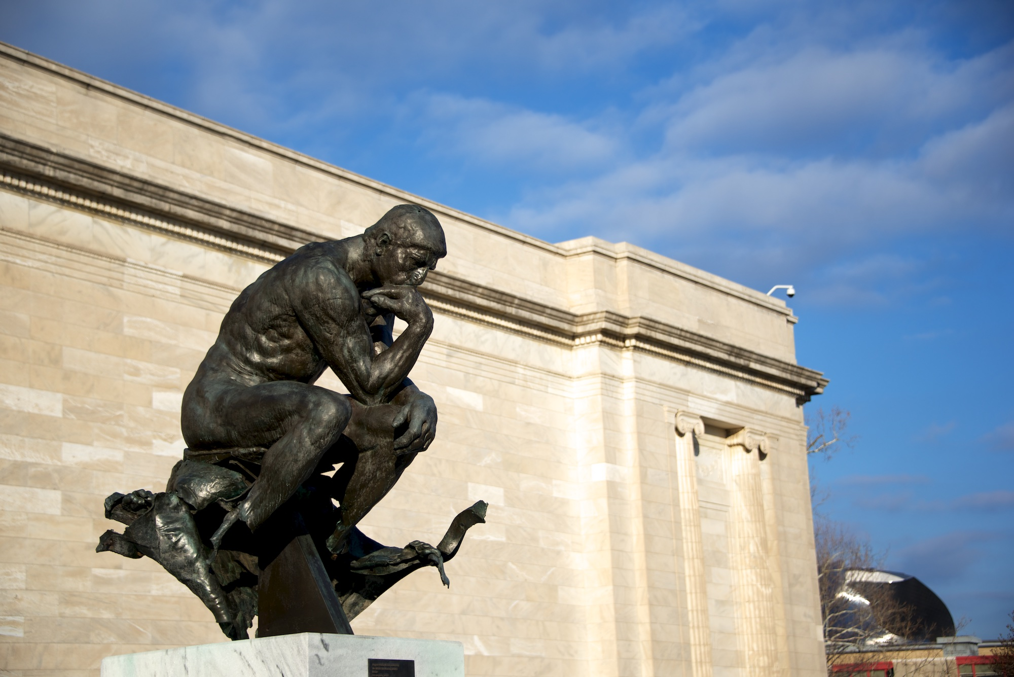 Monumental The Thinker by Rodin at Cleveland Museum of Art